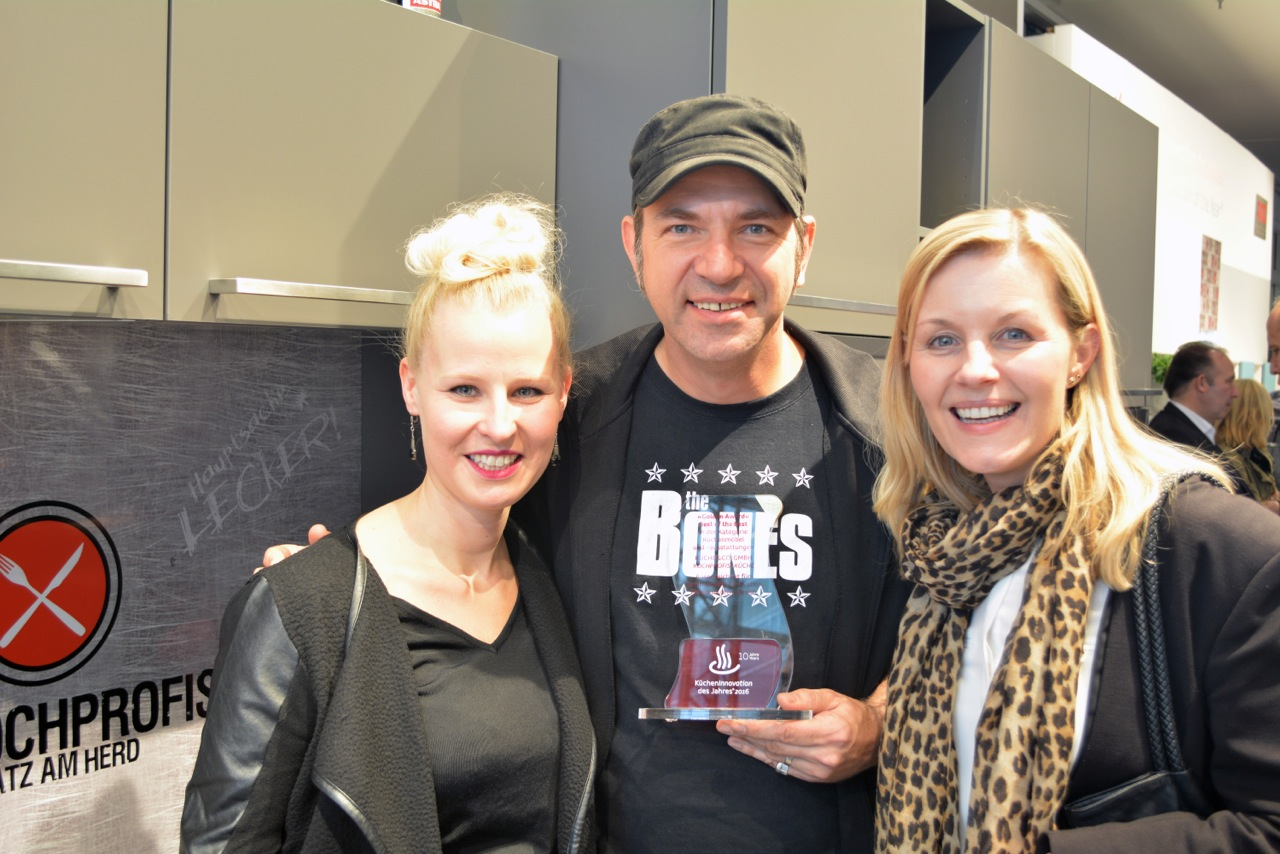 v.l.: Berit Holtkamp (RTL II), Ole Plogstedt, Anita Möller (RTL II)