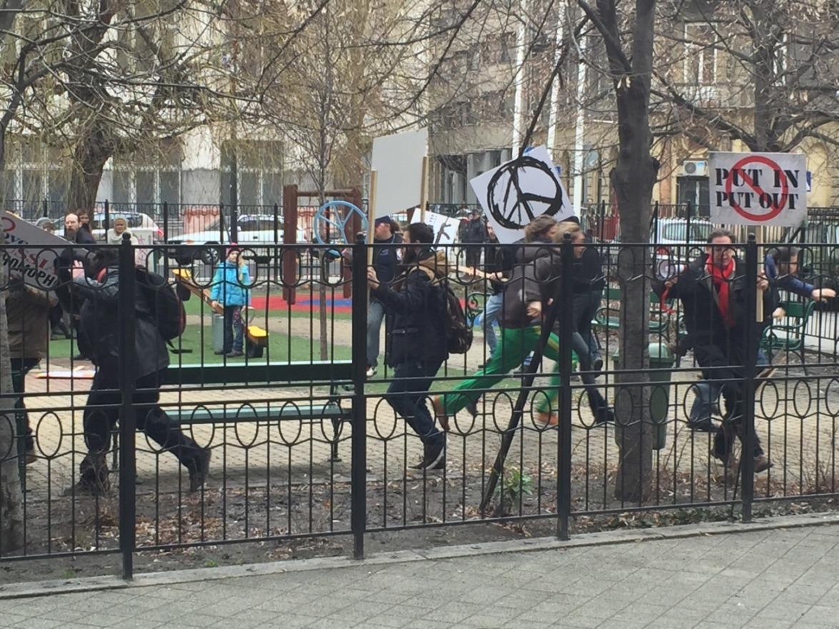 Budapest: Inszenierte Demo