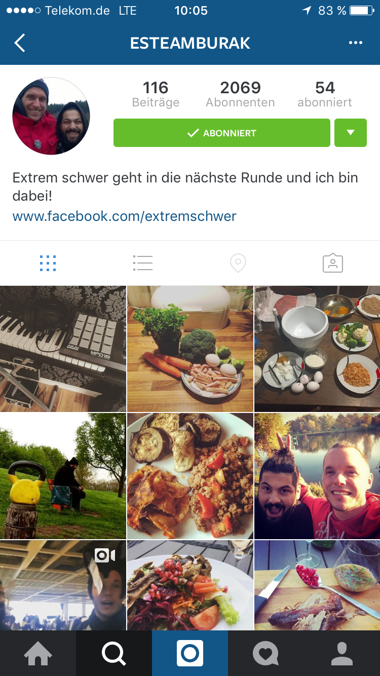 """Instagram-Profil von """"Extrem schwer""""-Kandidat Burak"""