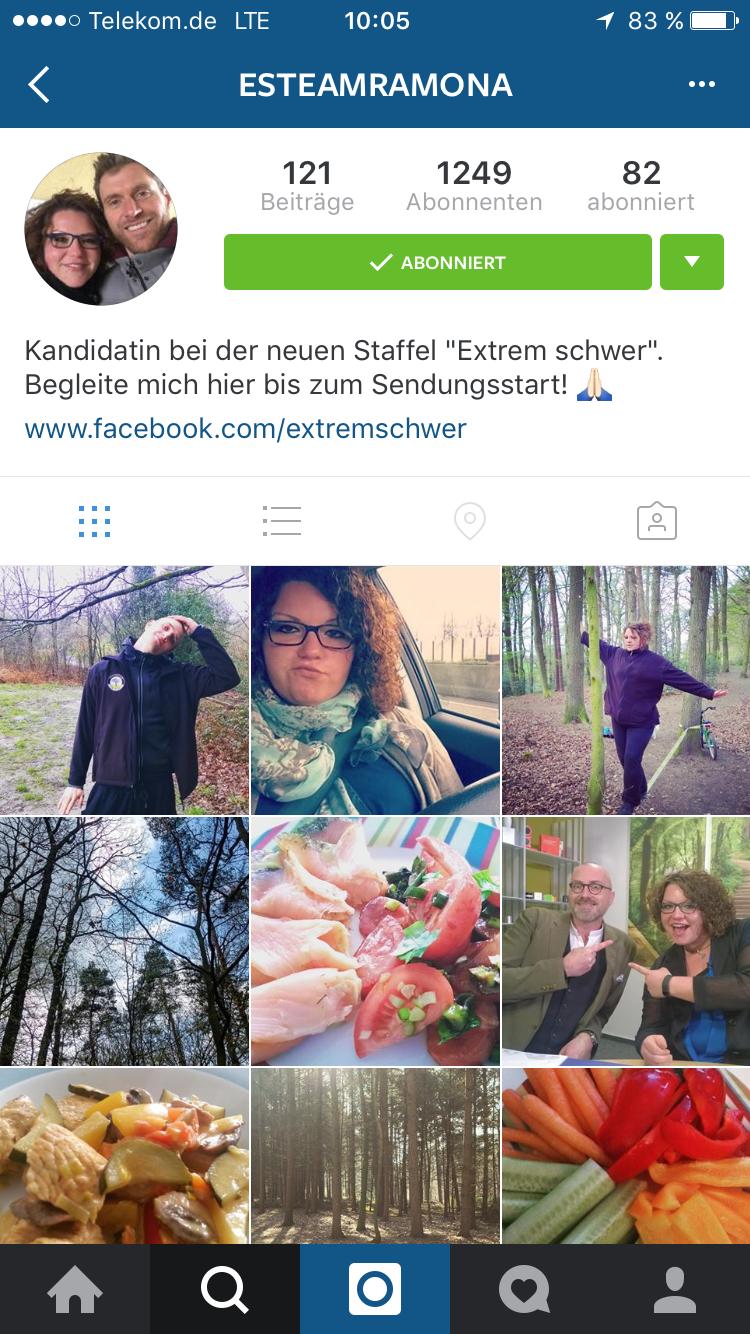 """Instagram-Profil von """"Extrem schwer""""-Kandidatin Ramona"""