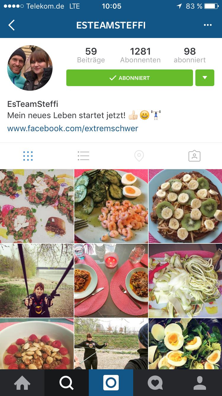 """Instagram-Profil von """"Extrem schwer""""-Kandidatin Steffi"""