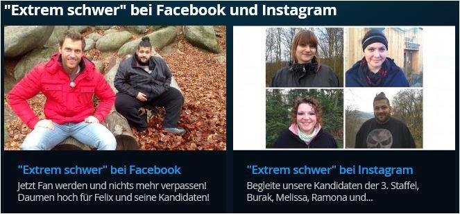 """Formatseite """"Extrem schwer"""" auf rtl2.de"""