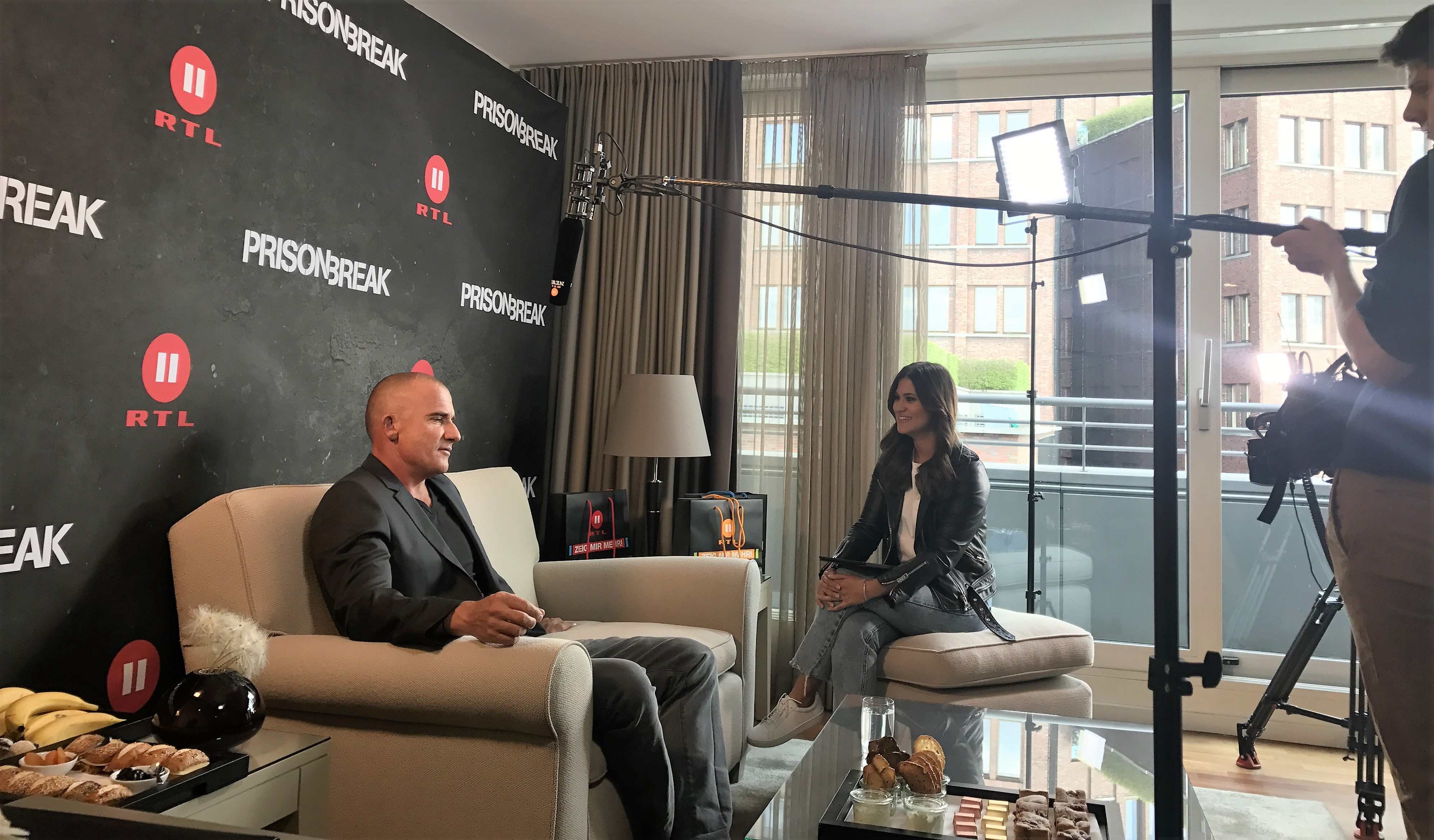 Dominic Purcell beim Interview-Marathon
