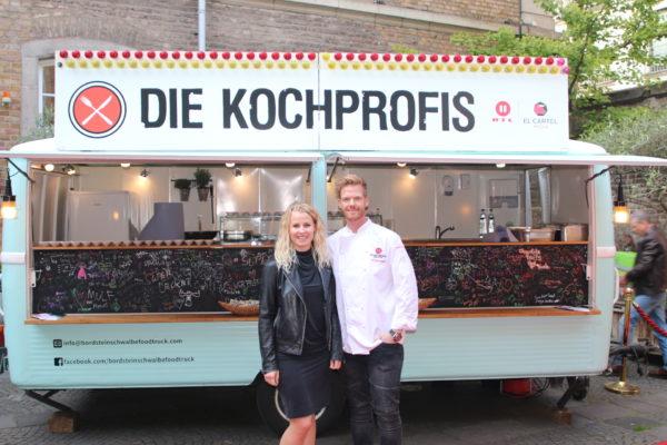 Berit Holtkamp, El Cartel Media, mit Kochprofi Nils Egtermeyer