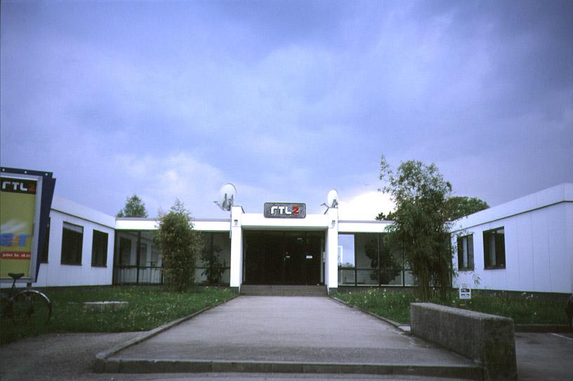 Das Hauptgebäude von RTL II auf dem Bavaria-Gelände Mitte der 90er Jahre