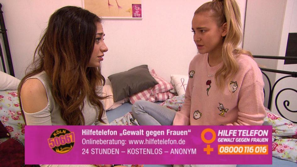 Köln 50667: Elli (links) im Gespräch mit der traumatisierten Lina