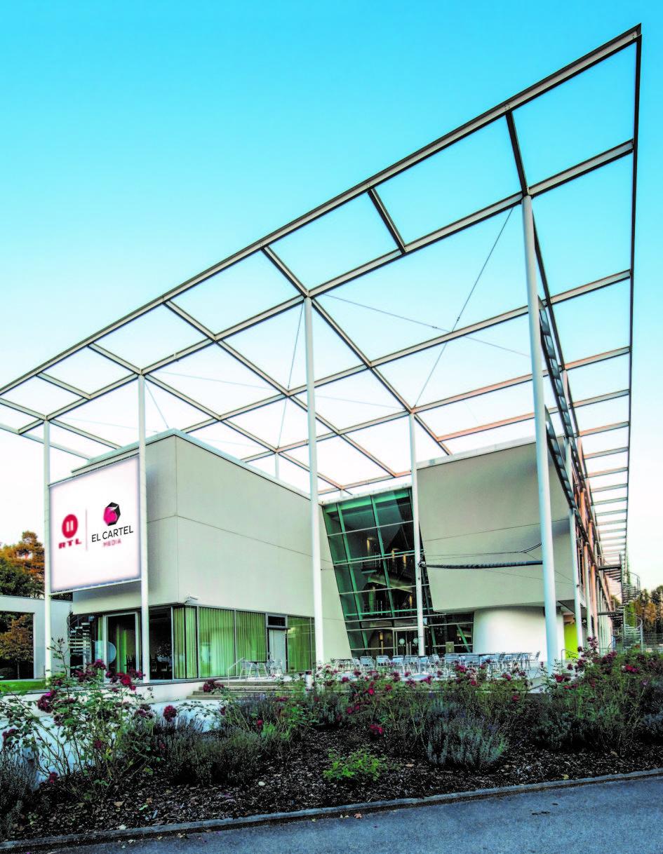 Das Firmengebäude von RTL II und El Cartel Media in Grünwald bei München