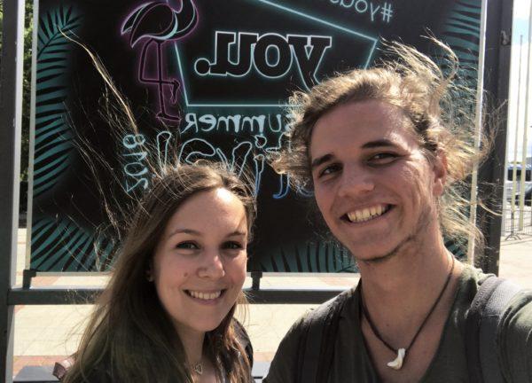 Pia und Samuel auf dem YOU Summer Festival in Berlin