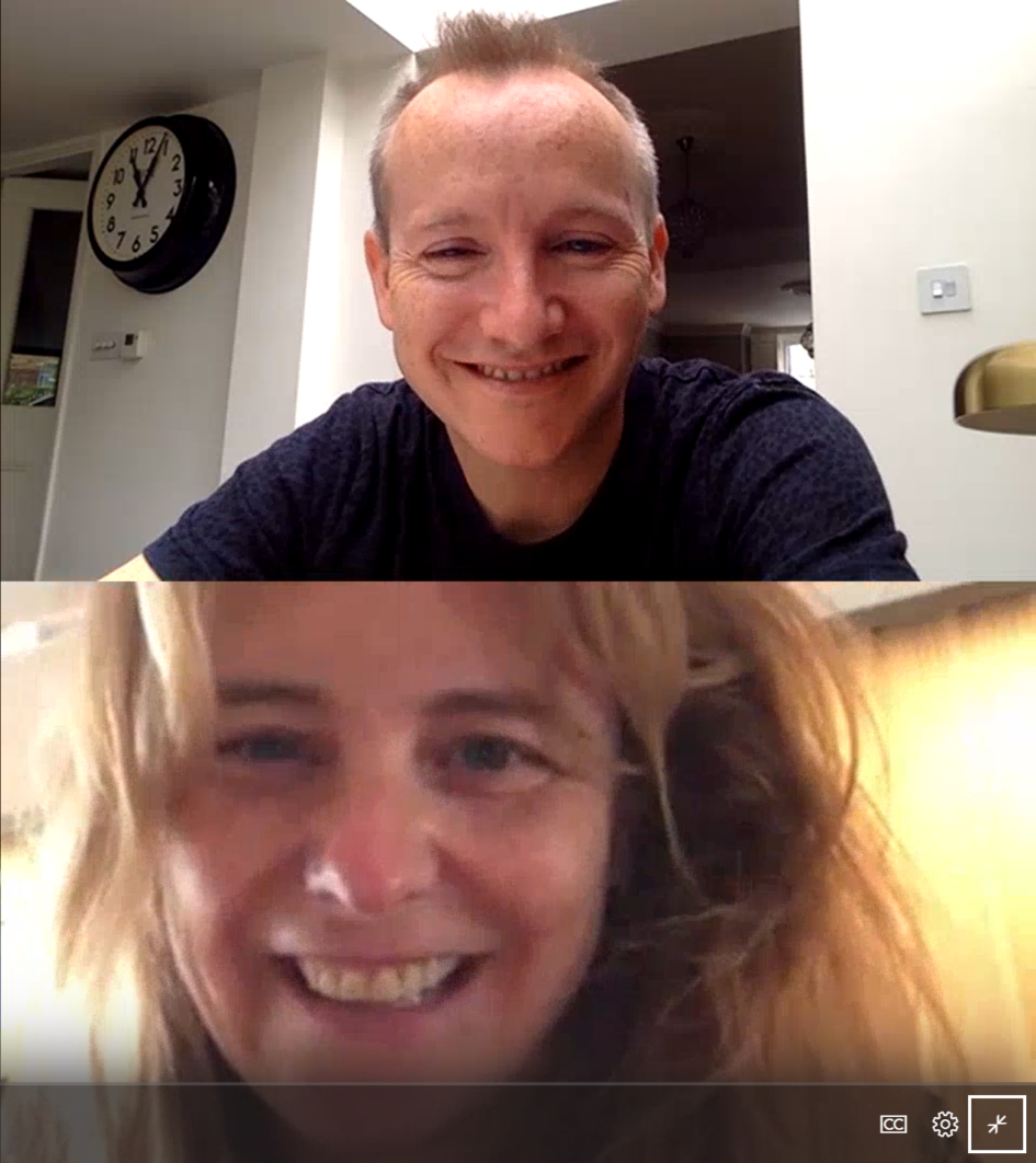 David Flynn und Shona Fraser