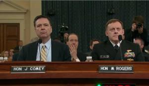 Die Chefs von FBI und NSA sagten heute gegen Trump aus.