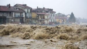 Wassermassen in Italien durch Unwetter